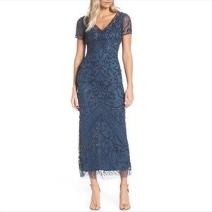 Pizarro Nights Long Beaded Gown Dress